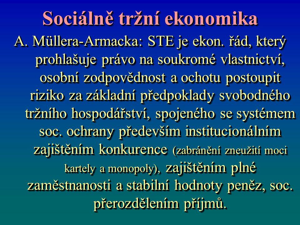 Sociálně tržní ekonomika A. Müllera-Armacka: STE je ekon.