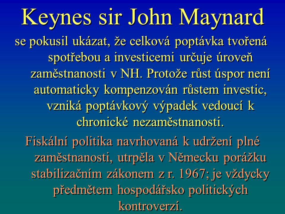 Z historie teorie růstu Keynesovské teorie růstu se zaměřují na podmínky současné plné zaměstnanosti kapitálu a práce v tzv.