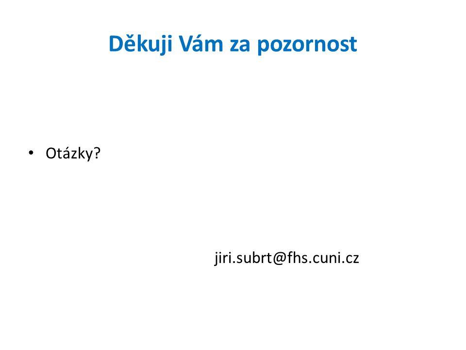 Děkuji Vám za pozornost Otázky? jiri.subrt@fhs.cuni.cz