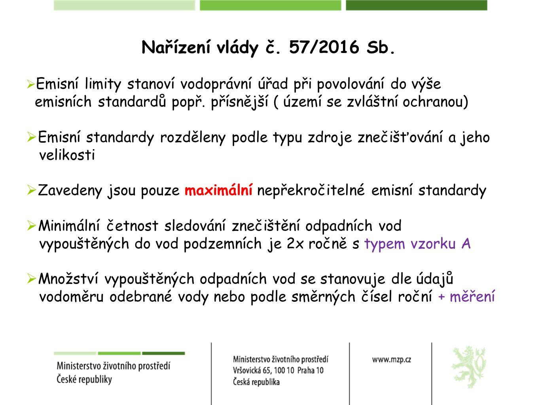 Nařízení vlády č. 57/2016 Sb.