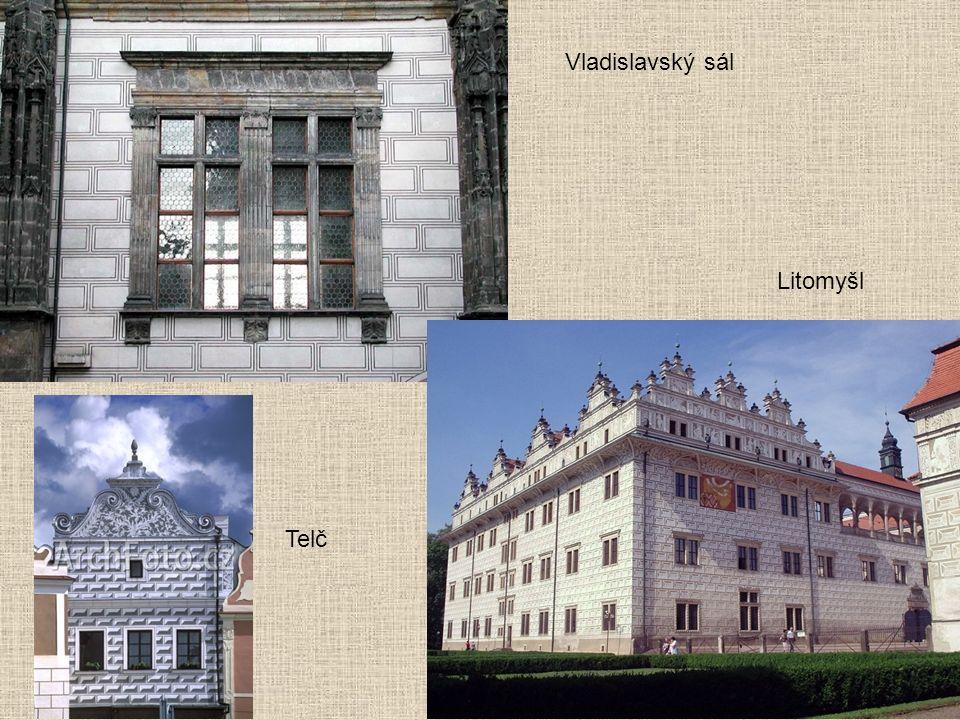 Litomyšl Vladislavský sál Telč