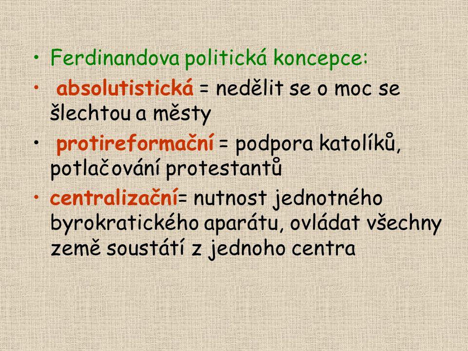 Narazily na sebe dva protichůdné principy: Stavovský (privilegia šlechty, spoluúčast na vládě, rozvinul se zjm.za slabých Jagellonců) vs.