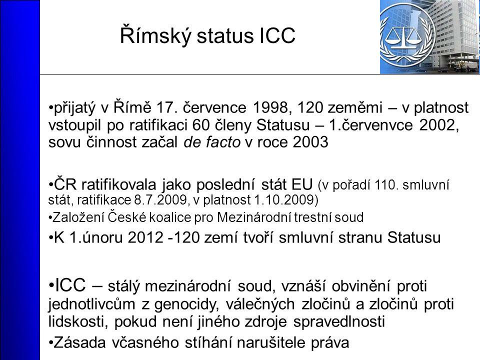 Římský status ICC přijatý v Římě 17.