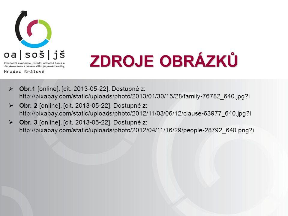 ZDROJE OBRÁZKŮ  Obr.1 [online]. [cit. 2013-05-22].