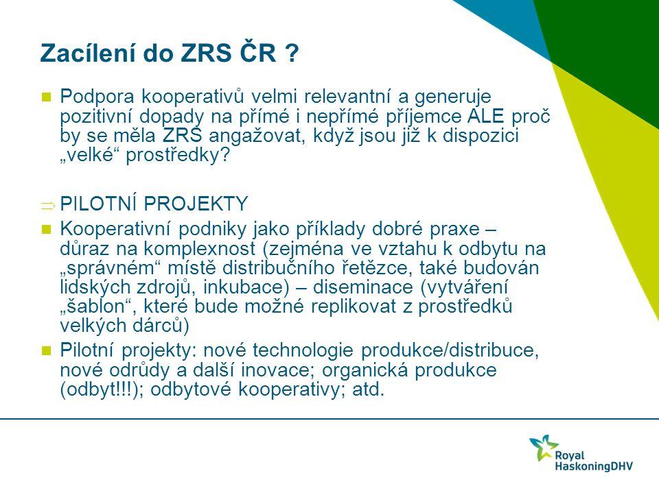 Zacílení do ZRS ČR .
