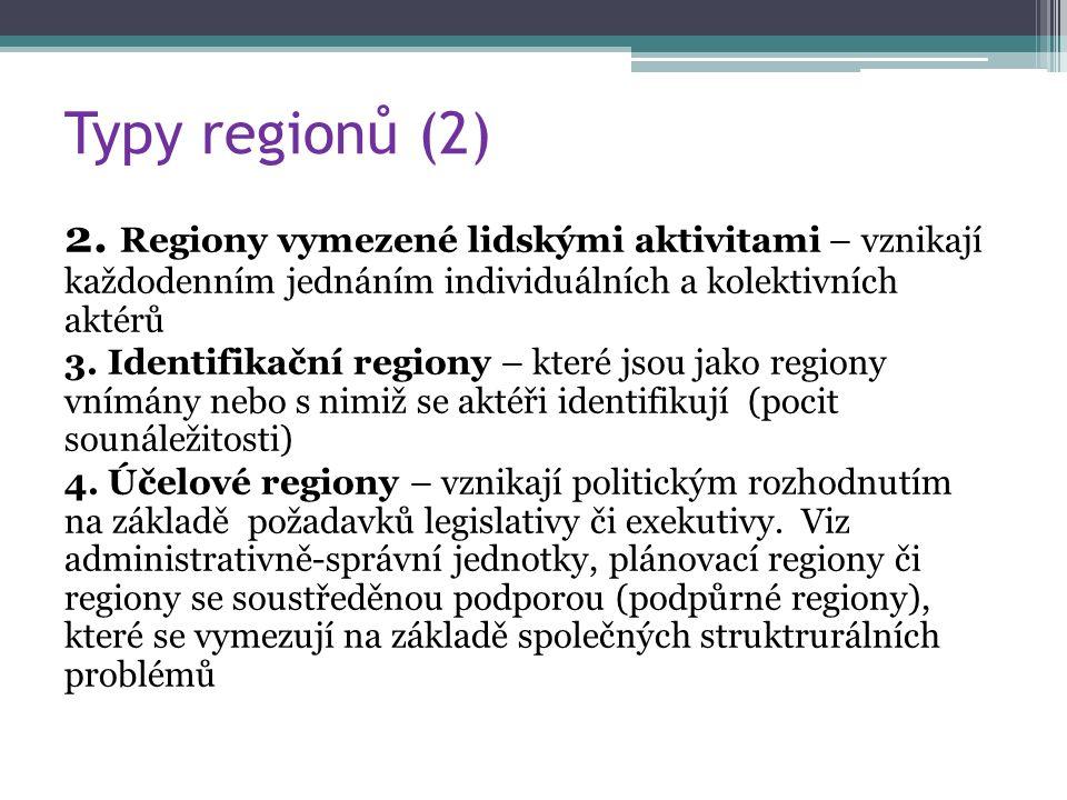 Typy regionů (2) 2.