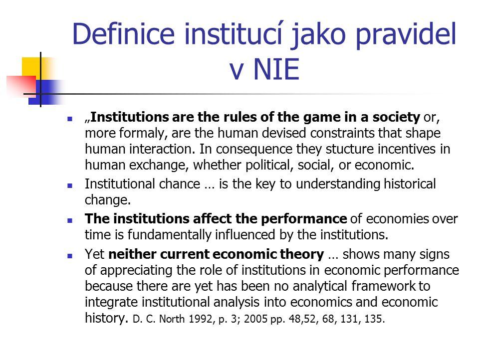 Typy institucí.Vlastnosti institucí. Formální a neformální – F.