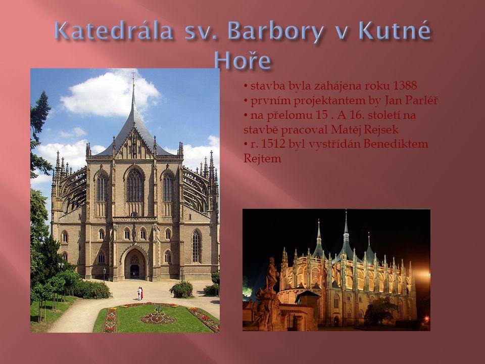  založen patrně králem Přemyslem II.Otakarem  vyhořel a Karel IV, pozval r.