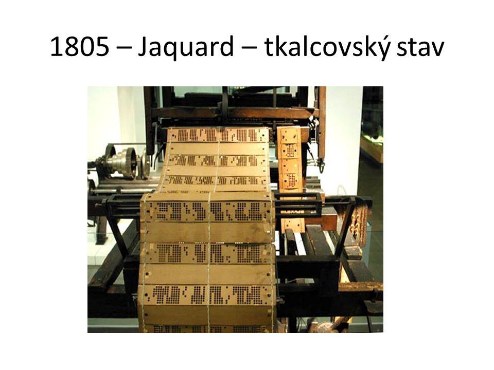 1805 – Jaquard – tkalcovský stav