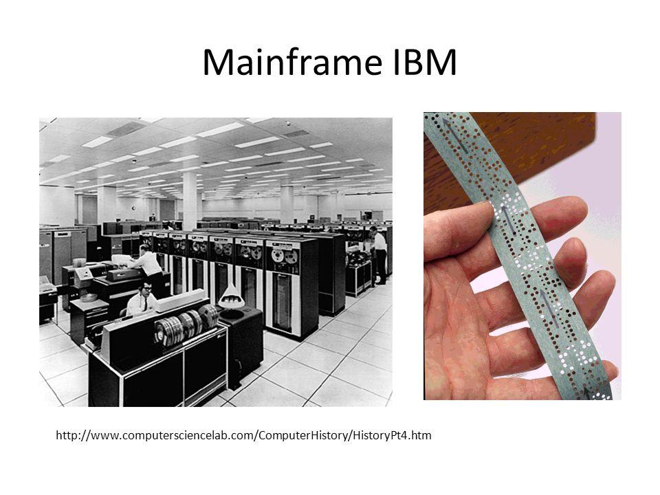 Mainframe IBM http://www.computersciencelab.com/ComputerHistory/HistoryPt4.htm