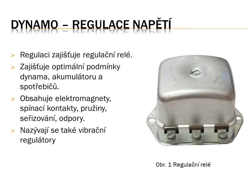  Regulaci zajišťuje regulační relé.