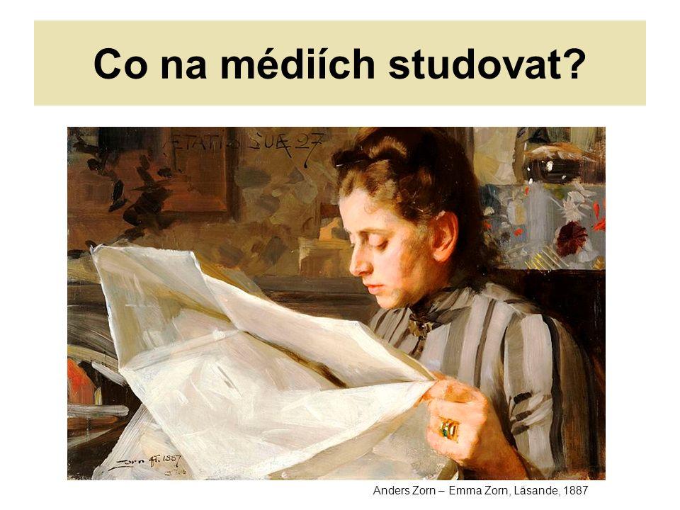 Co na médiích studovat Anders Zorn – Emma Zorn, Läsande, 1887
