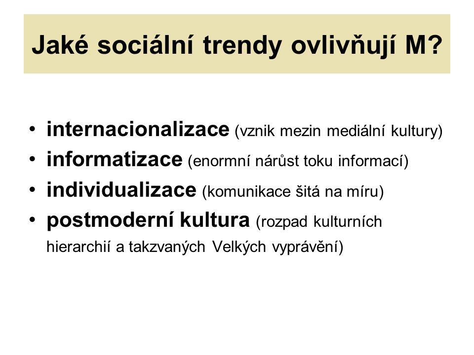 Jaké sociální trendy ovlivňují M.