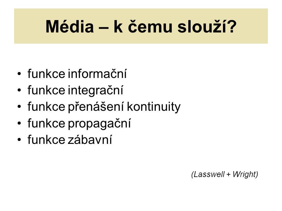Média – k čemu slouží.