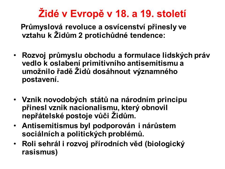 Židé v Evropě v 18. a 19.