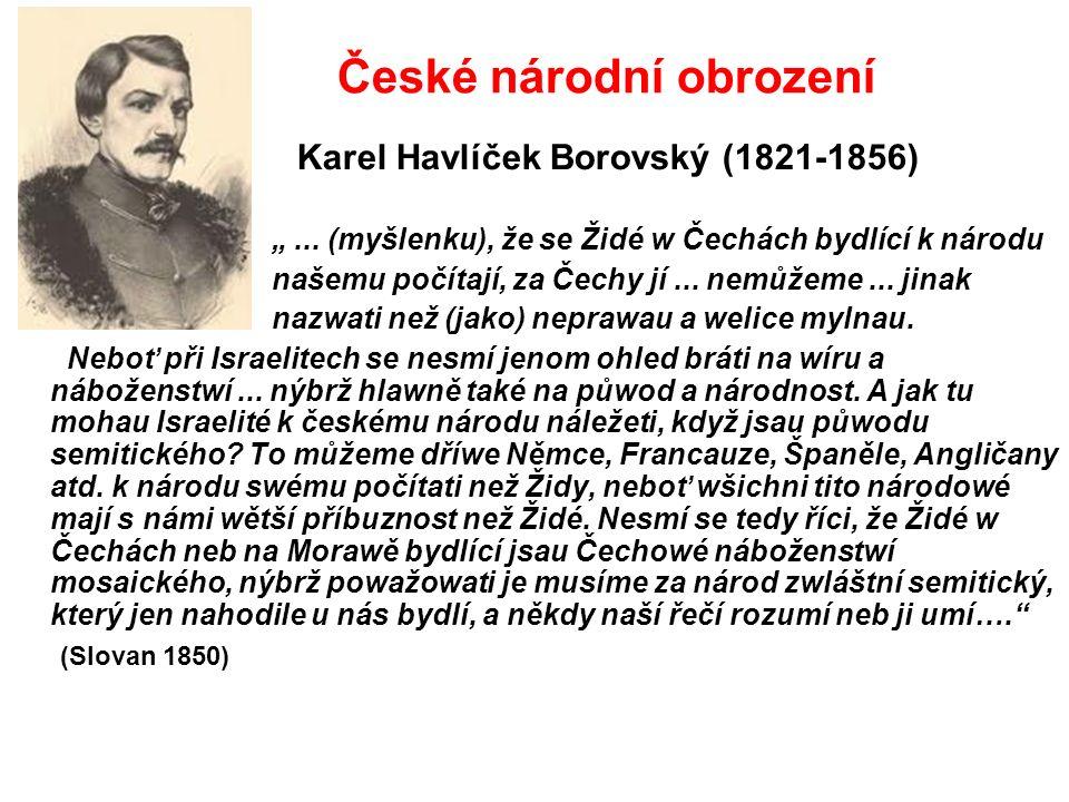 """České národní obrození Karel Havlíček Borovský (1821-1856) """"..."""