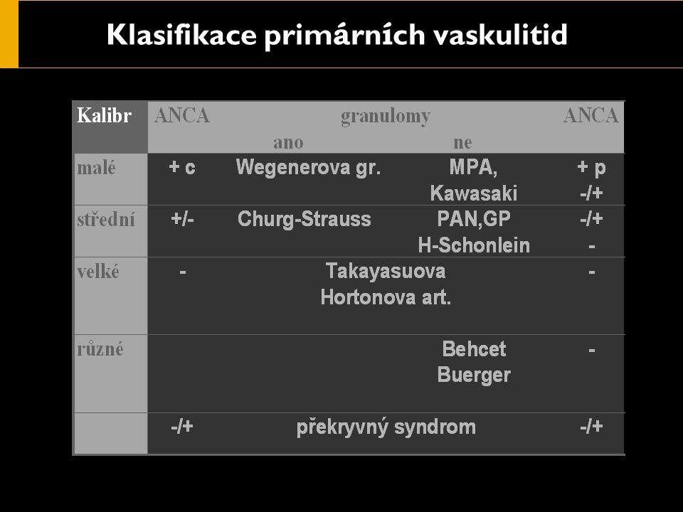 Klasifikace prim á rn í ch vaskulitid