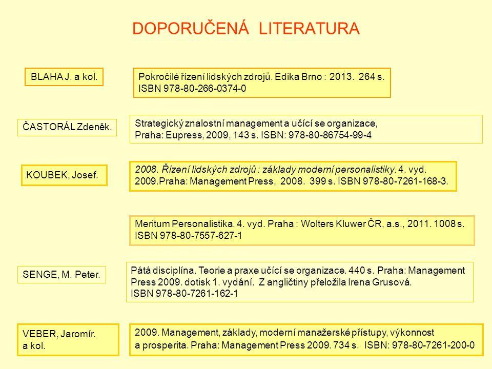 DOPORUČENÁ LITERATURA ČASTORÁL Zdeněk.