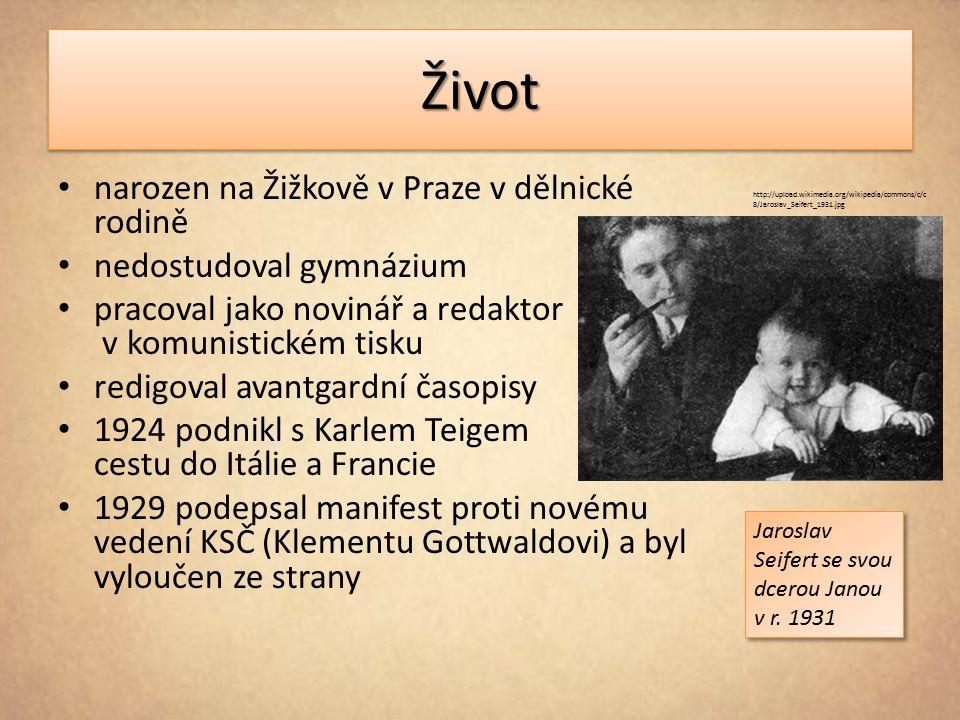 ŽivotŽivot narozen na Žižkově v Praze v dělnické rodině nedostudoval gymnázium pracoval jako novinář a redaktor v komunistickém tisku redigoval avantg