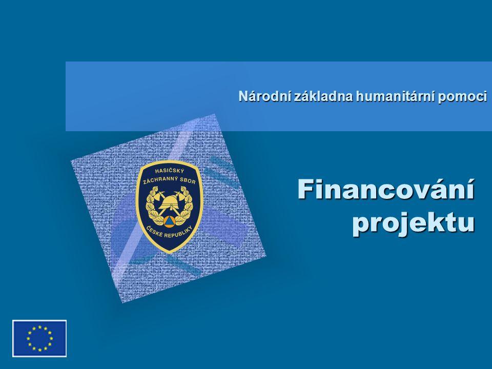 Financování projektu Národní základna humanitární pomoci