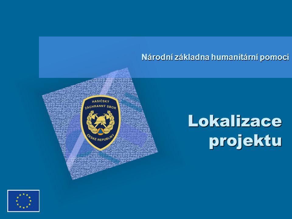 Lokalizace projektu Národní základna humanitární pomoci