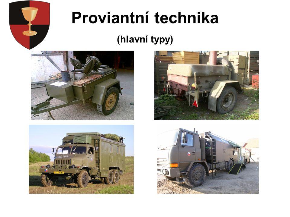 Proviantní technika (hlavní typy)