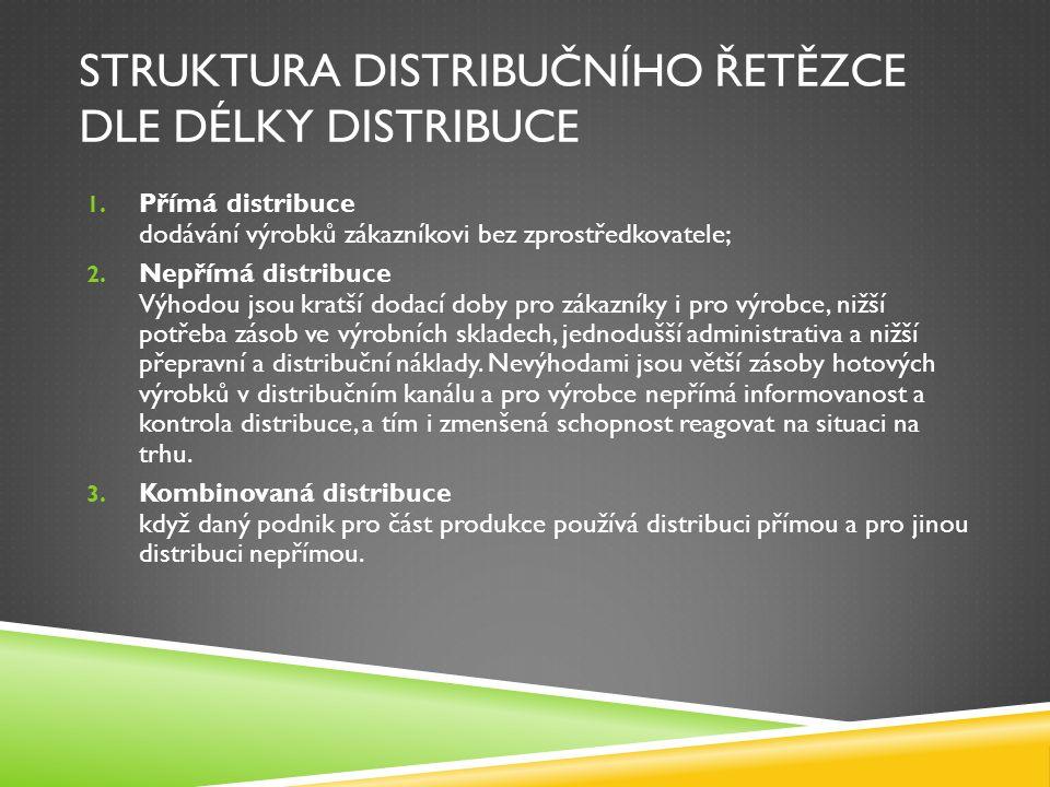 DISTRIBUČNÍ SYSTÉM  Otevřený systém, který spočívá ve vyrovnávacích funkcích mezi výrobou a trhem.