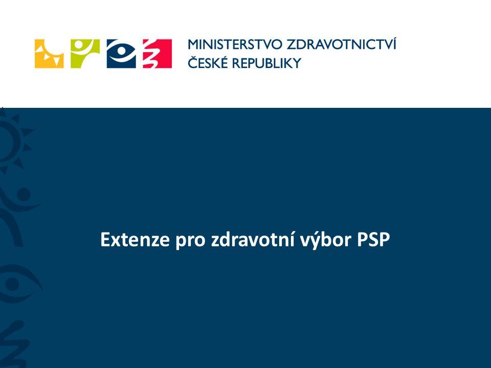 Extenze pro zdravotní výbor PSP