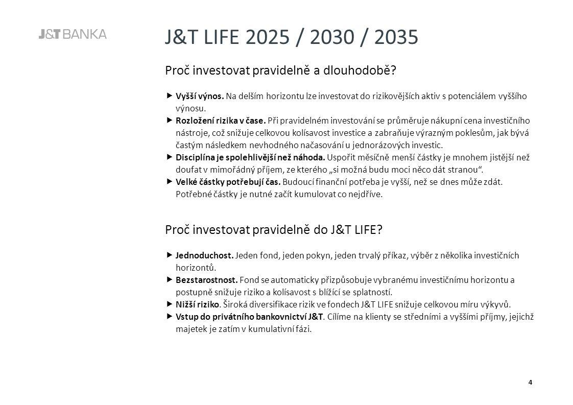 J&T LIFE 2025 / 2030 / 2035 4 11773 74 050 Proč investovat pravidelně a dlouhodobě.