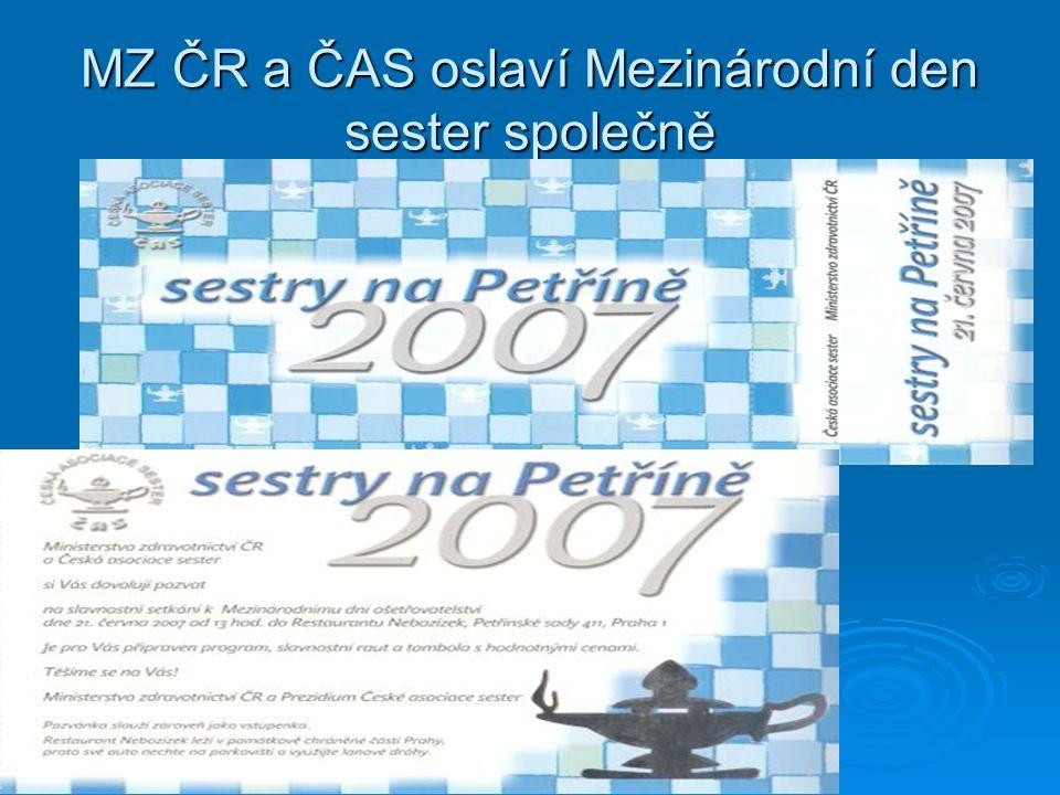 MZ ČR a ČAS oslaví Mezinárodní den sester společně