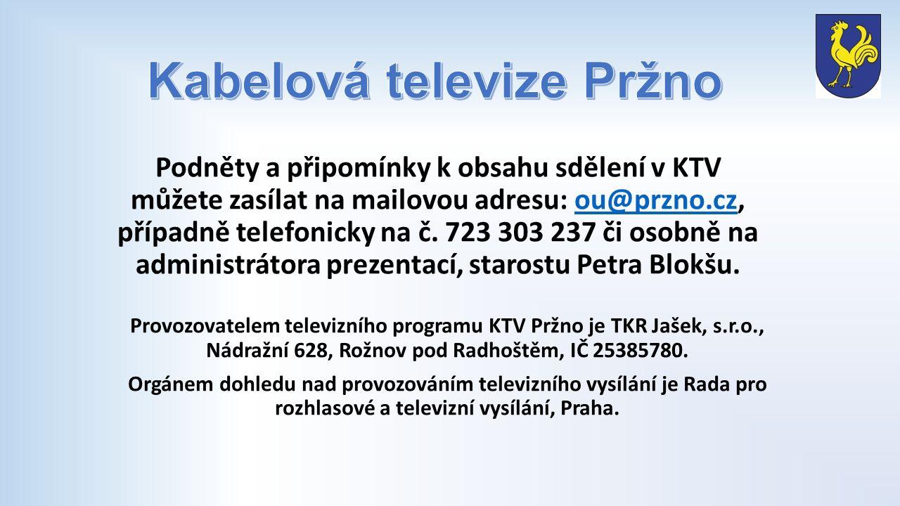 Vysílání a aktualizace infokanálu Vážení spoluobčané, omlouváme se za prodlevy v aktualizaci zpráv na infokanálu.