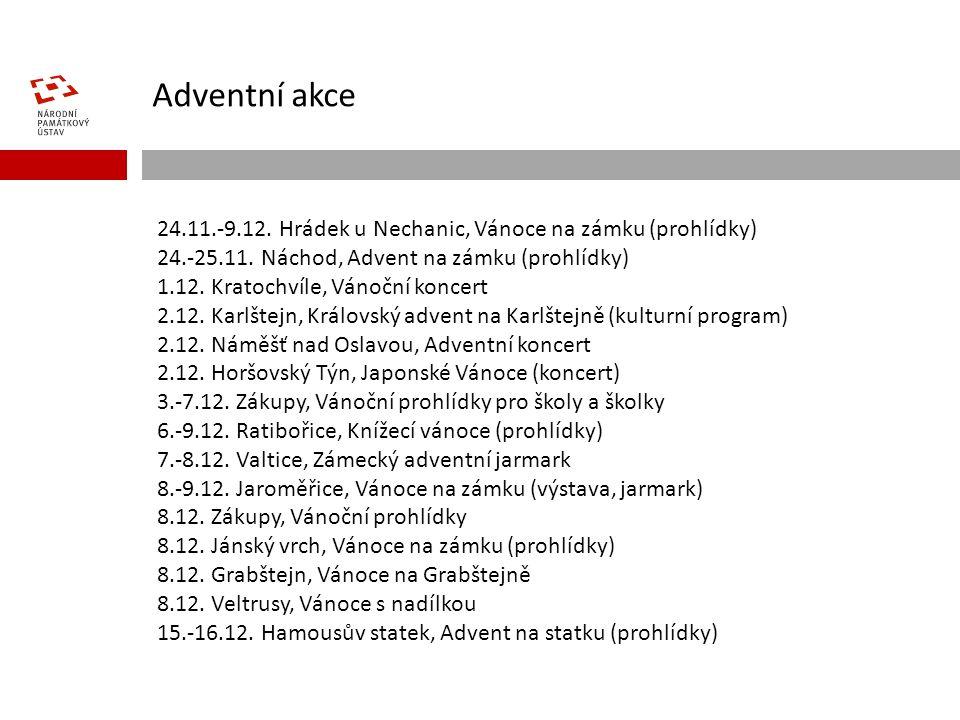 Adventní akce 24.11.-9.12. Hrádek u Nechanic, Vánoce na zámku (prohlídky) 24.-25.11.