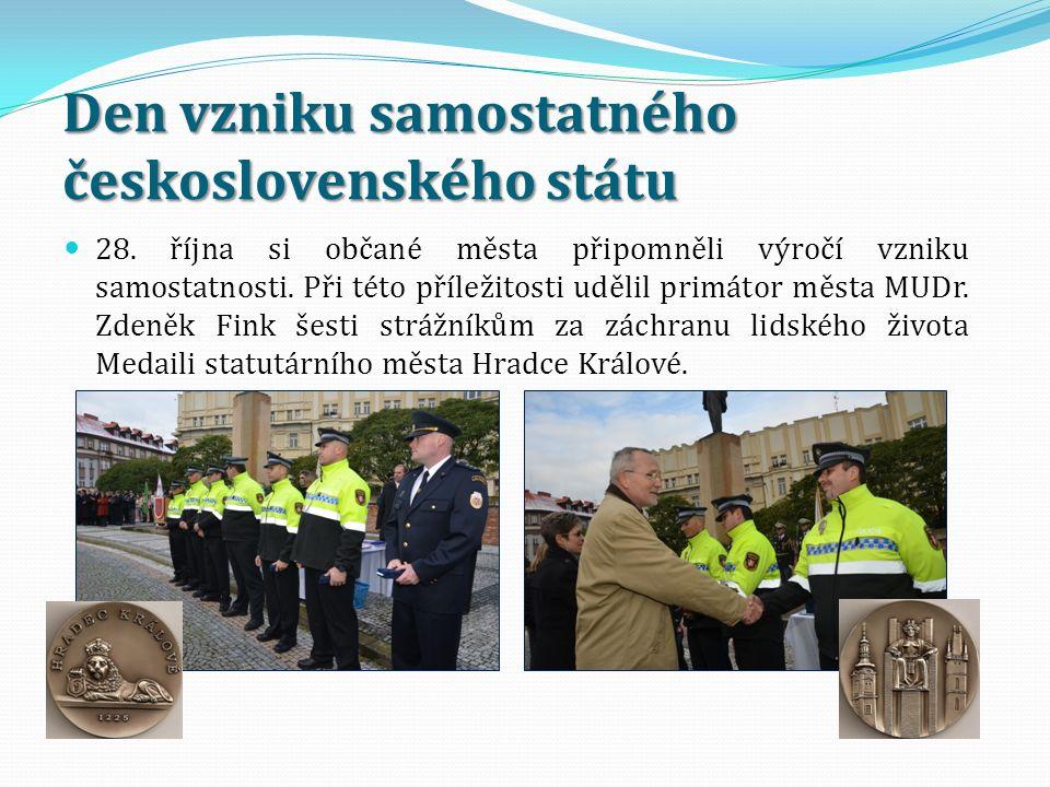 Den vzniku samostatného československého státu 28. října si občané města připomněli výročí vzniku samostatnosti. Při této příležitosti udělil primátor