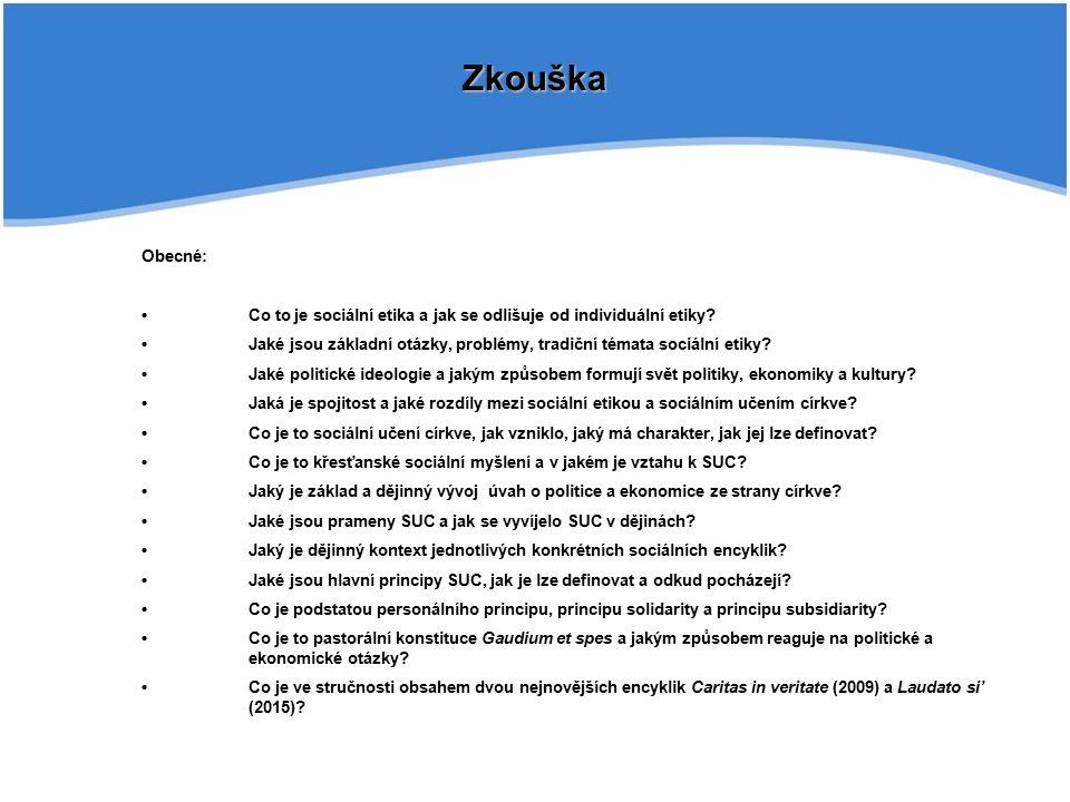 Zkouška Obecné: Co to je sociální etika a jak se odlišuje od individuální etiky.