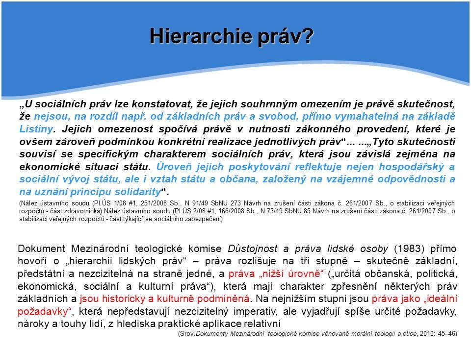Hierarchie práv.