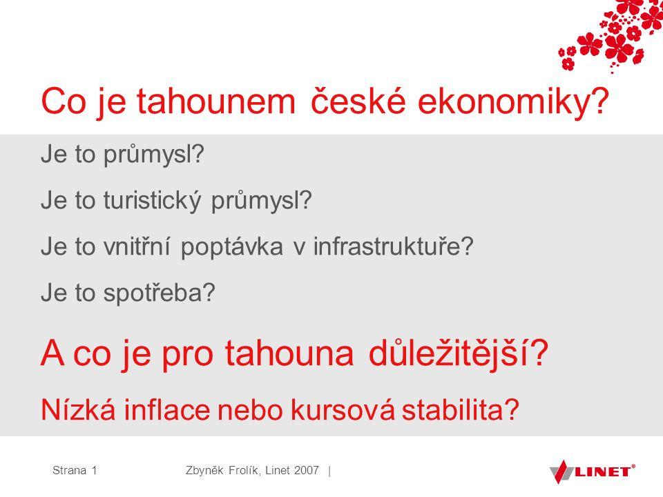 Zbyněk Frolík, Linet 2007 |Strana 1 Co je tahounem české ekonomiky.