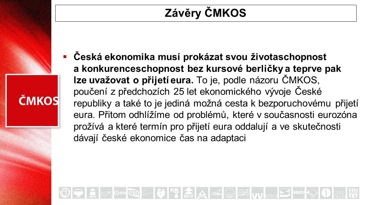  Česká ekonomika musí prokázat svou životaschopnost a konkurenceschopnost bez kursové berličky a teprve pak lze uvažovat o přijetí eura. To je, podle