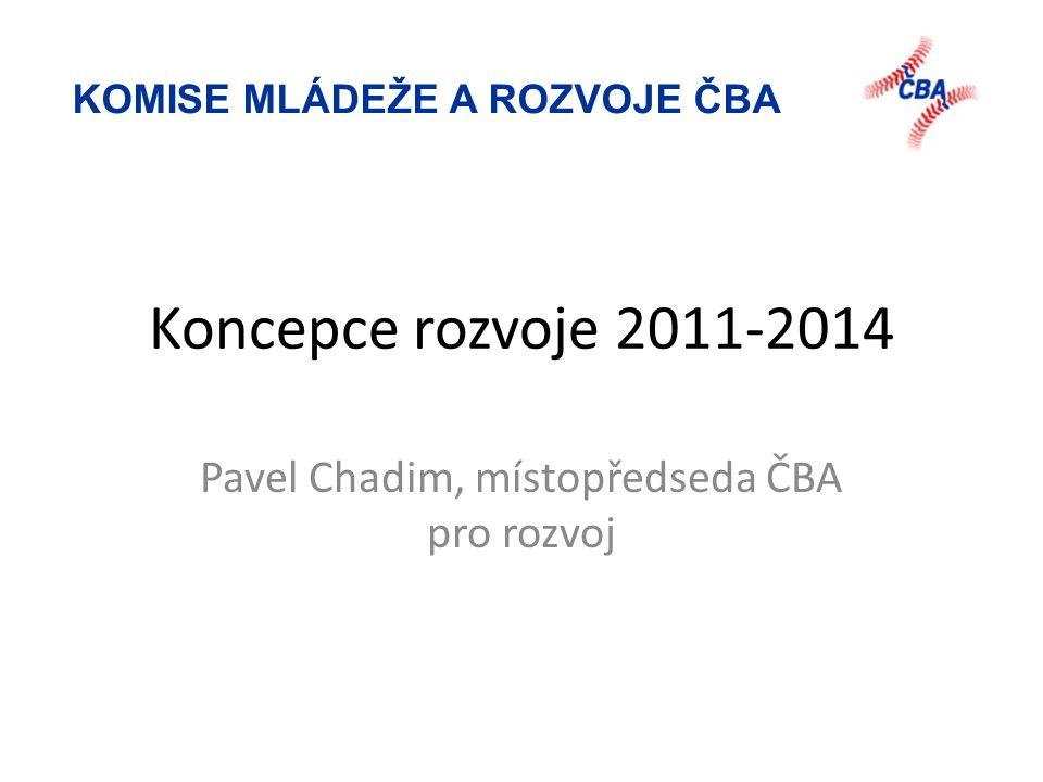 KOMISE MLÁDEŽE A ROZVOJE ČBA Koncepce rozvoje 2011-2014 Pavel Chadim, místopředseda ČBA pro rozvoj