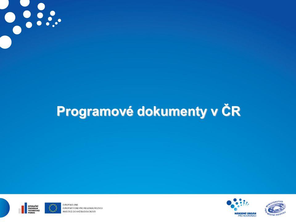 2 Programové dokumenty v ČR