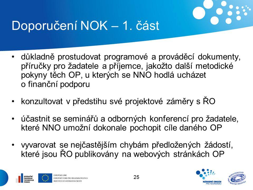 25 Doporučení NOK – 1.