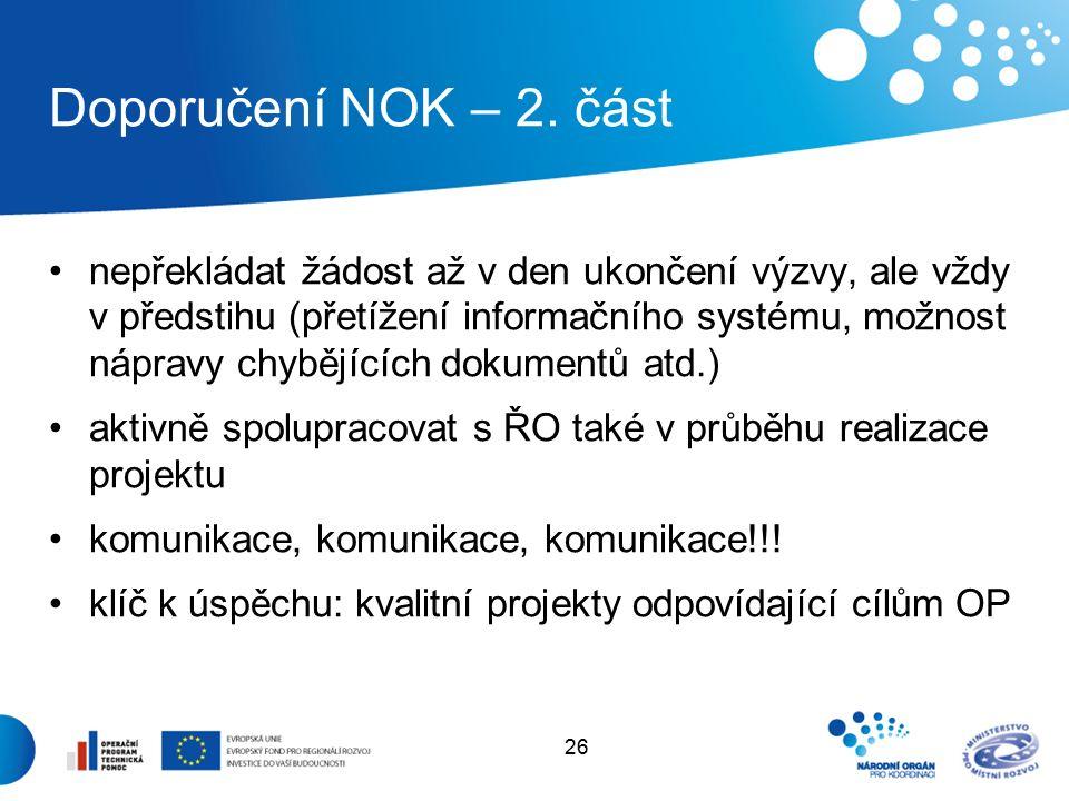 26 Doporučení NOK – 2.