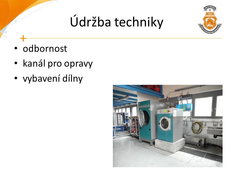 Údržba techniky odbornost kanál pro opravy vybavení dílny