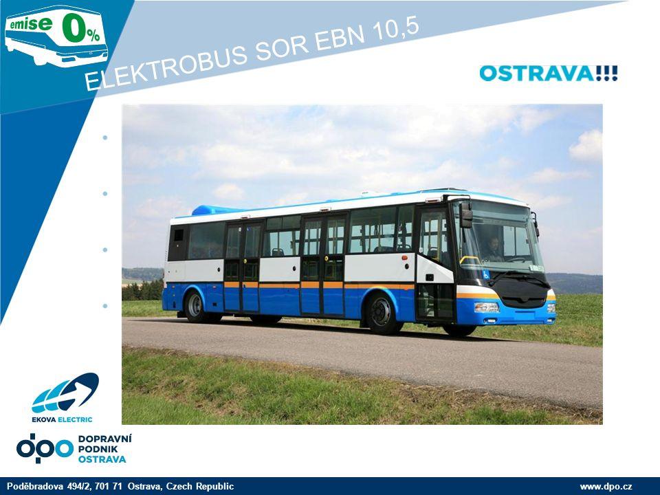 Company LOGO www.company.com Trakční baterie www.dpo.czPoděbradova 494/2, 701 71 Ostrava, Czech Republic ELEKTROBUS SOR EBN 10,5 Pohled na zapojení trakčních baterií a trakční motor