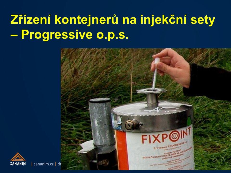 Zřízení kontejnerů na injekční sety – Progressive o.p.s.