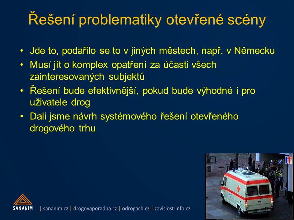 Řešení problematiky otevřené scény Jde to, podařilo se to v jiných městech, např. v Německu Musí jít o komplex opatření za účasti všech zainteresovaný