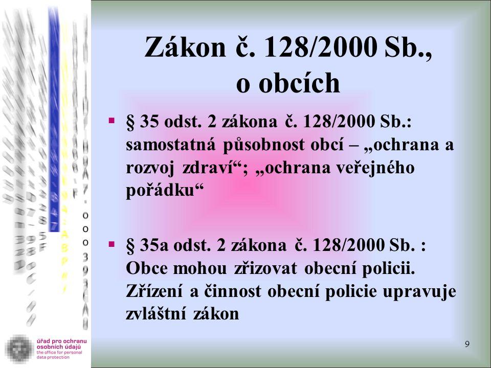 Zákon č. 128/2000 Sb., o obcích  § 35 odst. 2 zákona č.