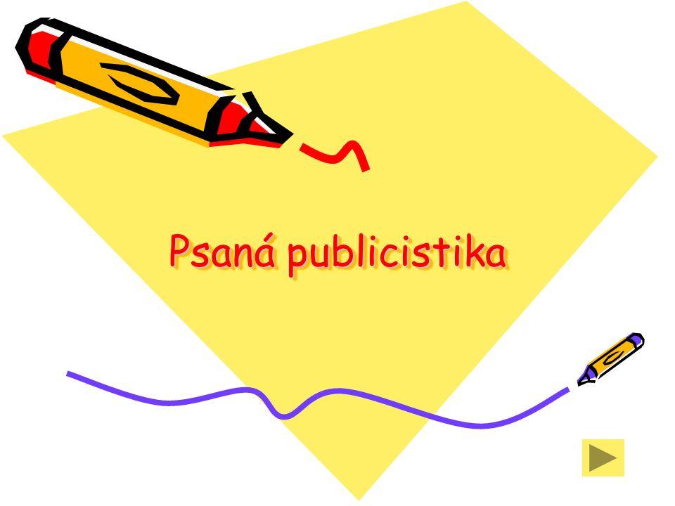 Psaná publicistika