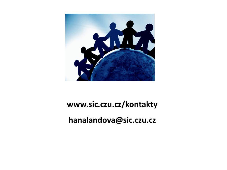 www.sic.czu.cz/kontakty hanalandova@sic.czu.cz
