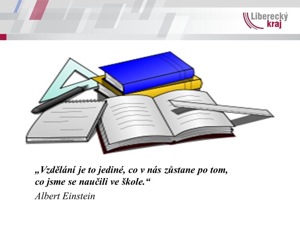 """""""Vzdělání je to jediné, co v nás zůstane po tom, co jsme se naučili ve škole."""" Albert Einstein"""