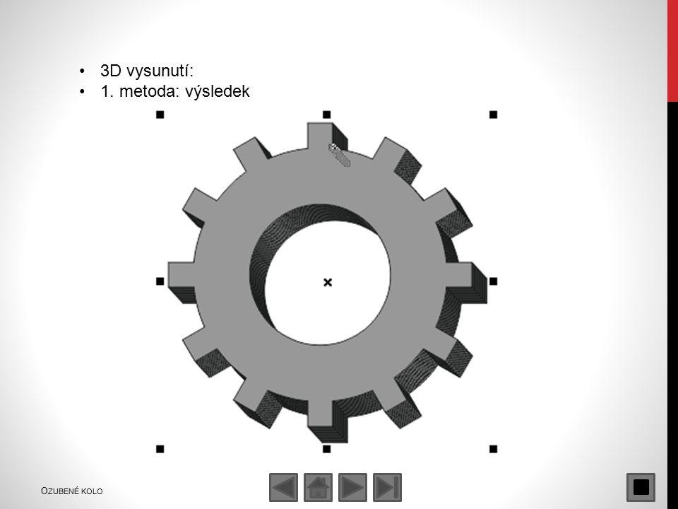 3D vysunutí: 1. metoda: výsledek O ZUBENÉ KOLO